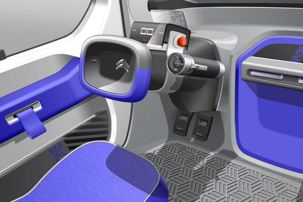 2019 Citroen Ami One Concept Design Sketch Interior 01