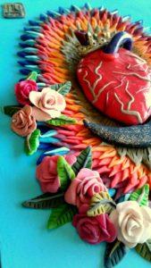 Detalle de Sagrado Corazon de Guadalupe (2015) - Nora Unda