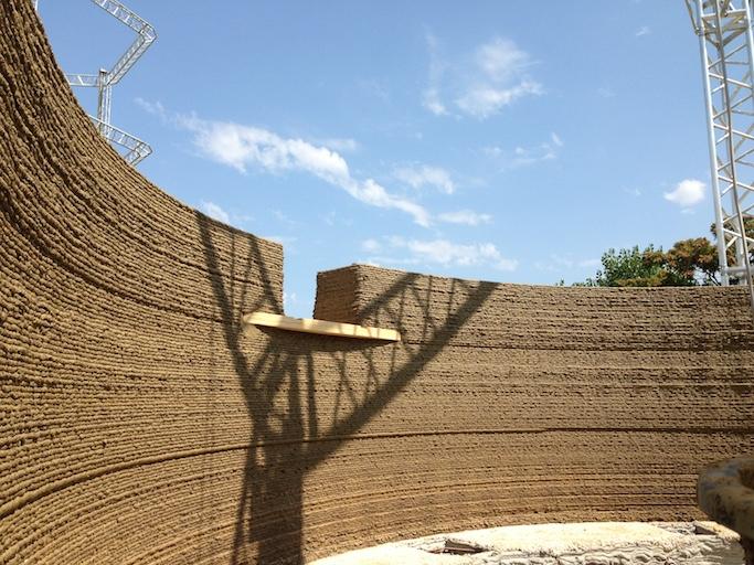 3D printed house Gaia WASP earth wall