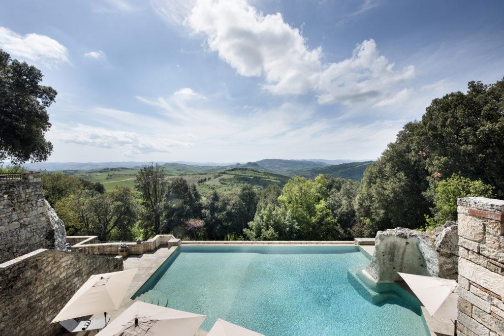 Borgo Pignano Infinity Pool and Views © Beyond Green