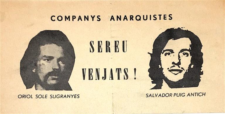 Canciones de la guerra. Companys anarquistas sereu venjats