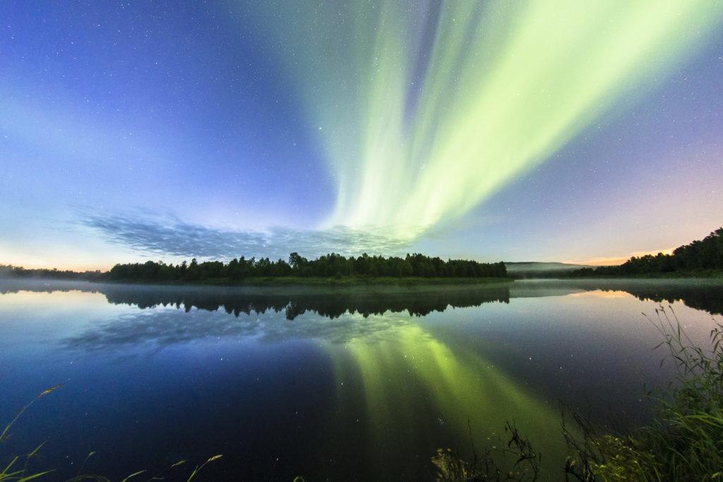 Double Aurora in Rovaniemi Lapland Finland