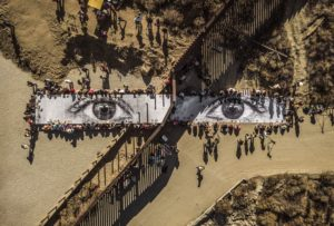 Migrants Mayra Picnic across the border Tecate Mexico U.S.A. 2017