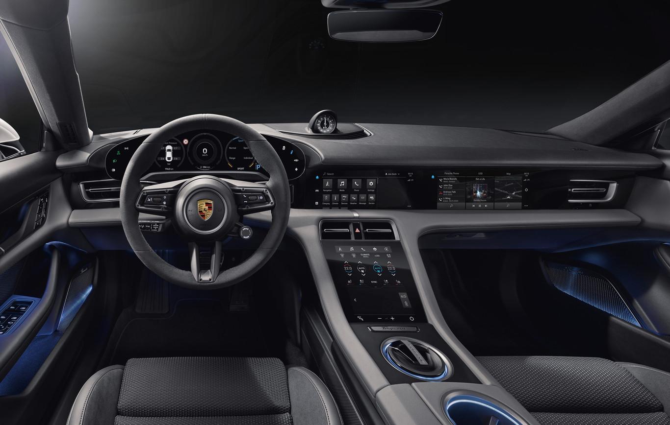 Coche eléctrico Porsche Taycan (interior)