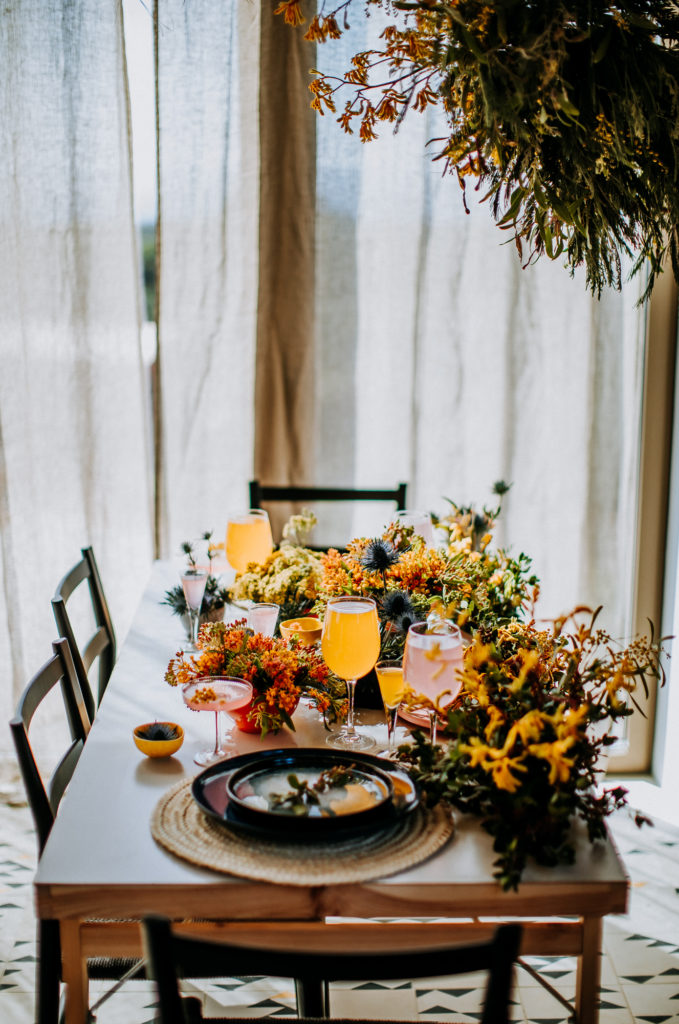 Villa Epicurea dinner table at communal space