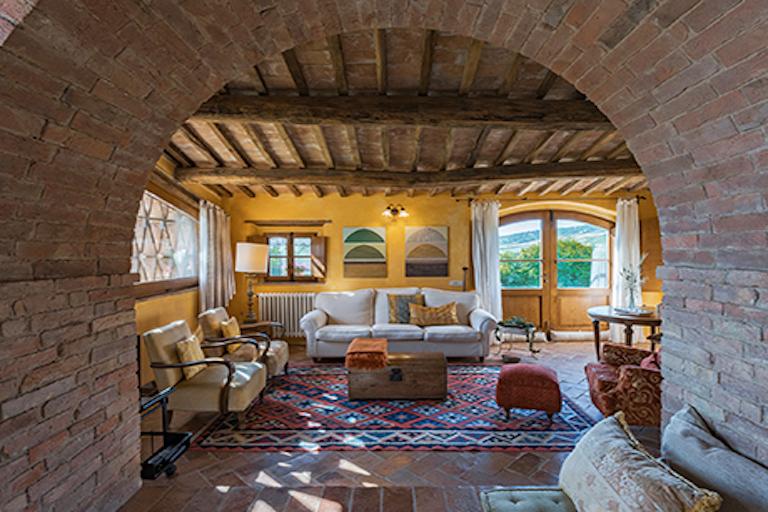 Villa Pienza cozy living