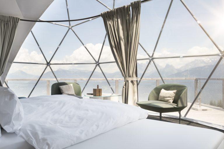 El lujo ecológico en las cúpulas suizas